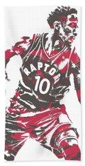 Demar Derozan Toronto Raptors Pixel Art 6 Beach Towel
