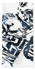 Beach Sheet featuring the mixed media Demarco Murray Tennessee Titans Pixel Art 2 by Joe Hamilton