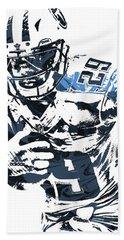 Demarco Murray Tennessee Titans Pixel Art Beach Towel by Joe Hamilton