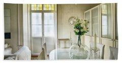 Beach Towel featuring the photograph Demijohn And Window Color Cadiz Spain by Pablo Avanzini