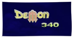 Beach Towel featuring the photograph Demon 340 Emblem by Mike McGlothlen