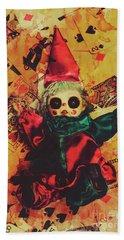 Demonic Possessed Joker Doll Beach Towel