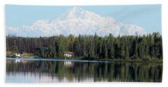 Denali From Kashwitna Lake Beach Towel