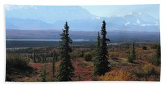 Denali From Near Wonder Lake Beach Towel