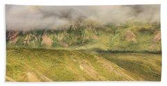 Denali National Park Mountain Under Clouds Beach Towel