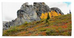 Denali Outcropping Beach Towel