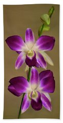 Dendrobium Orchids Beach Towel