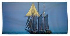 Denis Sullivan - Three Masted Schooner Beach Towel