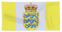 Denmark Coat Of Arms Beach Towel by Movie Poster Prints