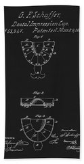 Dental Mold Patent Beach Towel by Dan Sproul
