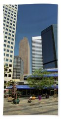 Beach Towel featuring the photograph Denver Architecture by Frank Romeo