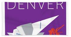 Denver Art Museum/purple Beach Towel