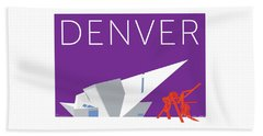 Denver Art Museum/purple Beach Towel