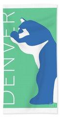 Denver Blue Bear/aqua Beach Towel
