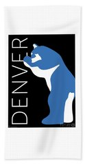 Denver Blue Bear/black Beach Towel