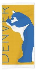 Denver Blue Bear/gold Beach Towel