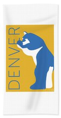 Denver Blue Bear/gold Beach Towel