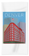 Denver Brown Palace/blue Beach Towel