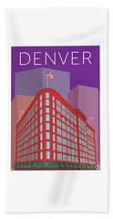 Denver Brown Palace/purple Beach Towel