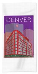 Denver Brown Palace/purple Beach Towel
