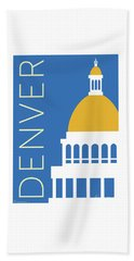 Denver Capitol/blue Beach Towel