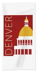 Denver Capitol/maroon Beach Towel
