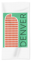 Denver Cash Register Bldg/aqua Beach Towel