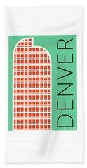 Denver Cash Register Bldg/aqua Beach Towel