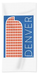 Denver Cash Register Bldg/blue Beach Towel