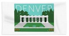 Denver Cheesman Park/lt Blue Beach Towel