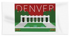 Denver Cheesman Park/maroon Beach Towel