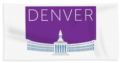 Denver City And County Bldg/purple Beach Towel