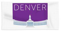 Denver City And County Bldg/purple Beach Towel