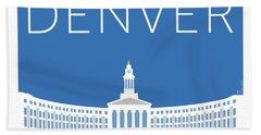 Denver City And County Bldg/blue Beach Towel