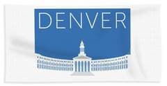 Denver City And County Bldg/blue Beach Towel