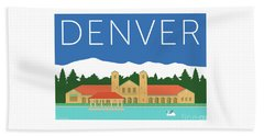 Denver City Park/blue Beach Towel