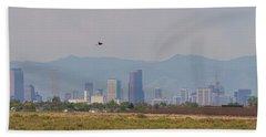 Denver Colorado Pretty Bird Fly By Beach Towel by James BO Insogna