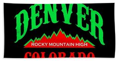 Denver Colorado Rocky Mountain Design Beach Towel
