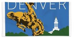 Denver Cowboy/dark Blue Beach Sheet