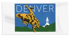 Denver Cowboy/dark Blue Beach Towel