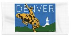 Denver Cowboy/dark Blue Beach Towel