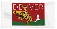Denver Cowboy/maroon Beach Towel