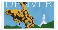 Denver Cowboy/sky Blue Beach Sheet