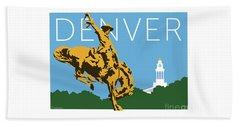 Denver Cowboy/sky Blue Beach Towel