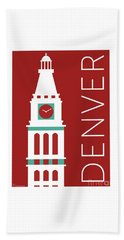 Denver D And F Tower/maroon Beach Towel