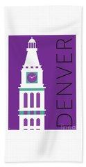 Denver D And F Tower/purple Beach Towel