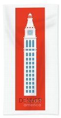 Denver D And F Tower/tall Beach Towel