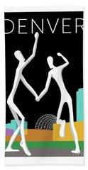 Denver Dancers/black Beach Towel