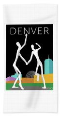 Denver Dancers/black Beach Towel