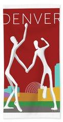 Denver Dancers/maroon Beach Towel